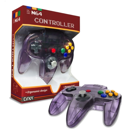 N64 Handkontroll (Atomic Purple) Ny