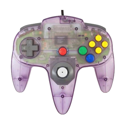 Nintendo 64 Handkontroll Lila/Atomic Purple Transparent beg