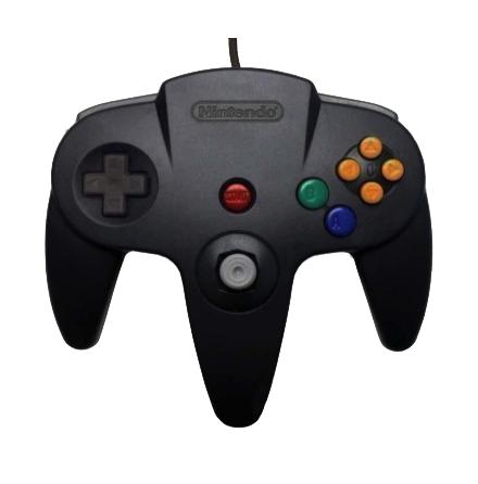 Nintendo 64 Handkontroll Svart/Black original beg