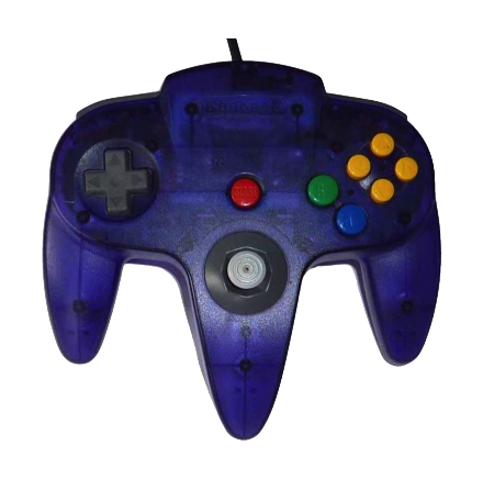 Nintendo 64 Handkontroll Turkos/Grape Purple Transparent beg