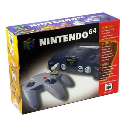 Nintendo 64 basenhet Charcoal Grey original