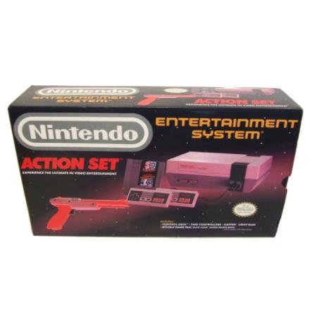 Nintendo Action Set inkl Konsol, 2 Handkontroller, SMB/ Duck Hunt, Zapper